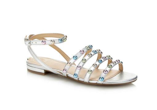 GUESS sandalo da donna argento con borchie
