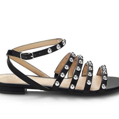GUESS sandalo da donna nero con borchie