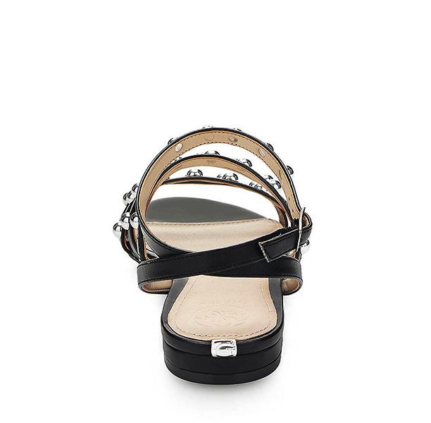 GUESS sandalo da donna nero con borchie -2