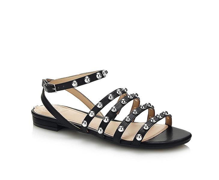 GUESS sandalo da donna nero con borchie -1