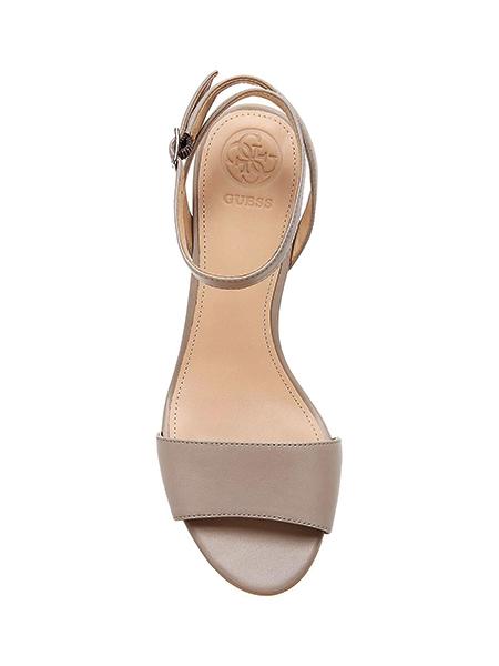scarpa Guess da donna con tacco lavorato largo-3