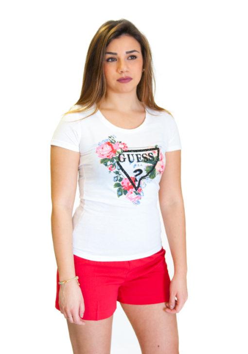 Guess t-shirt con stampa logo e fiori-3