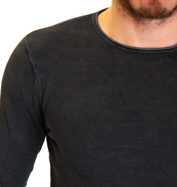GUESS maglia grigio antracite in tessuto lavorato -1