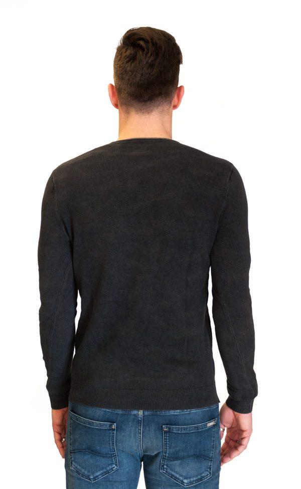 GUESS maglia grigio antracite in tessuto lavorato -2
