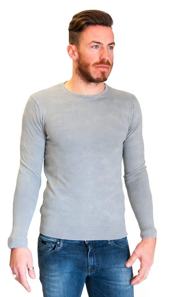 GUESS maglia grigio chiaro in tessuto lavorato