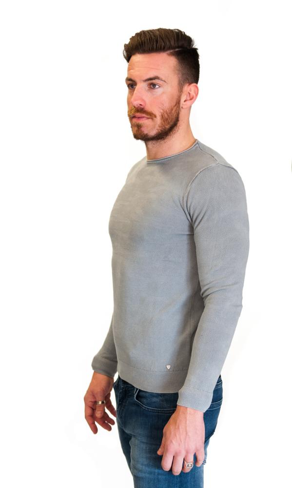 GUESS maglia grigio chiaro in tessuto lavorato-1