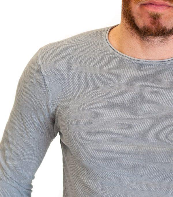GUESS maglia grigio chiaro in tessuto lavorato-2