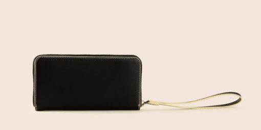 Armani Exchange portafoglio nero da donna con zip-2