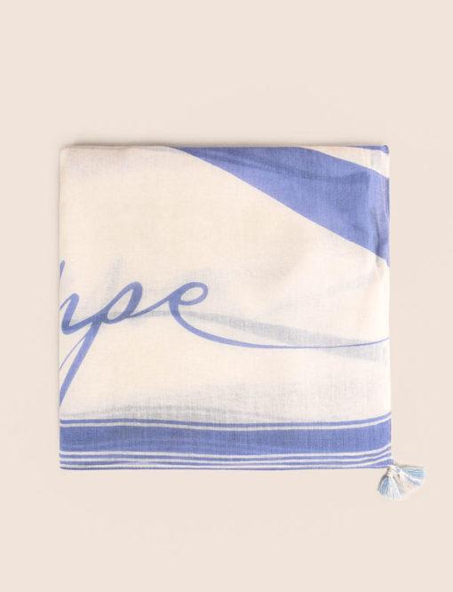 Armani Exchange foulard con scritta azzurra-1