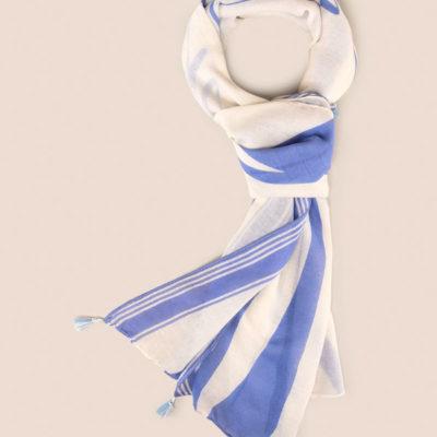 Armani Exchange foulard con scritta azzurra