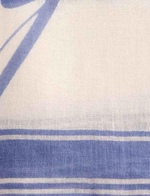 Armani Exchange foulard con scritta azzurra-2