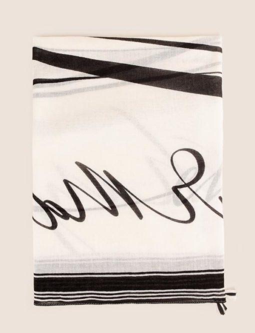 Armani Exchange foulard con scritta nera-1
