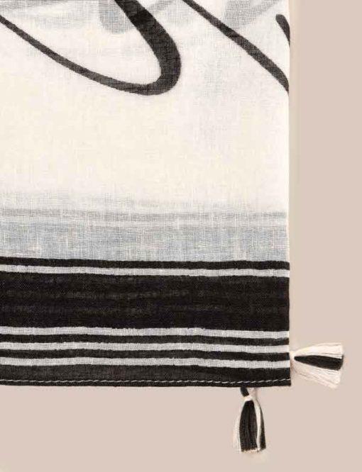 Armani Exchange foulard con scritta nera-2