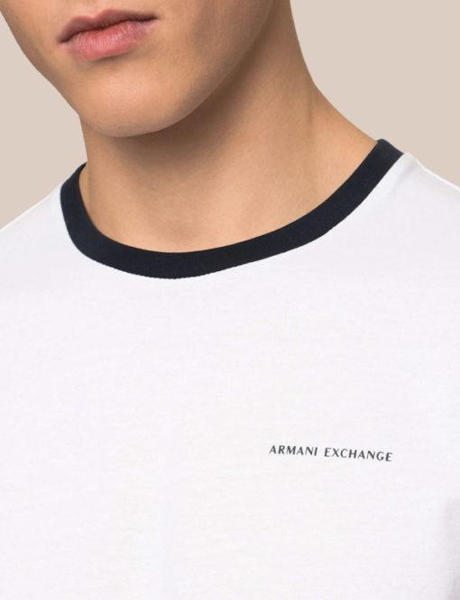 t-shirt Armani Exchange da uomo con profili in contrasto-4