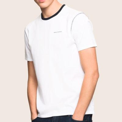 t-shirt Armani Exchange da uomo con profili in contrasto-1