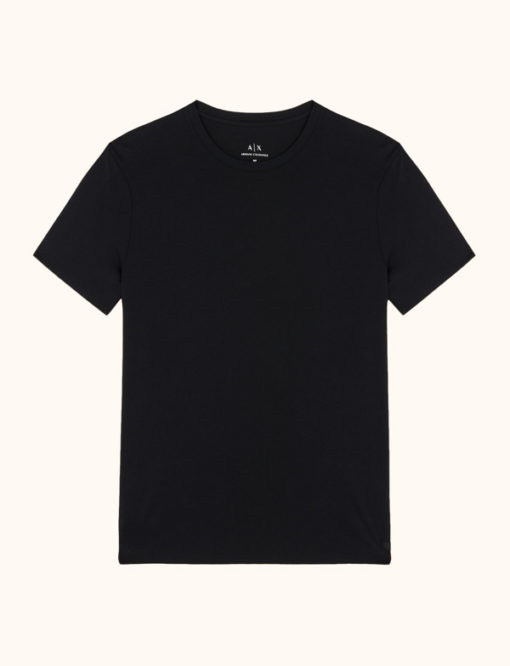 Armani Exchange t-shirt girocollo in Pima cotton-5