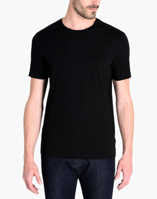Armani Exchange t-shirt girocollo in Pima cotton-1