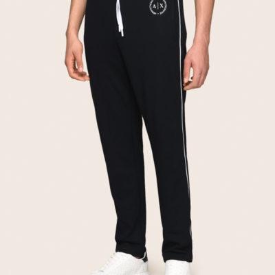 Armani Exchange pantalone della tuta blu da uomo