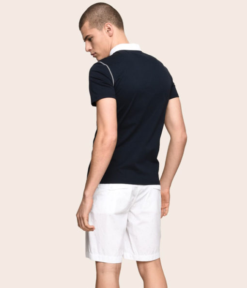 Armani Exchange polo da uomo con colletto a contrasto-6