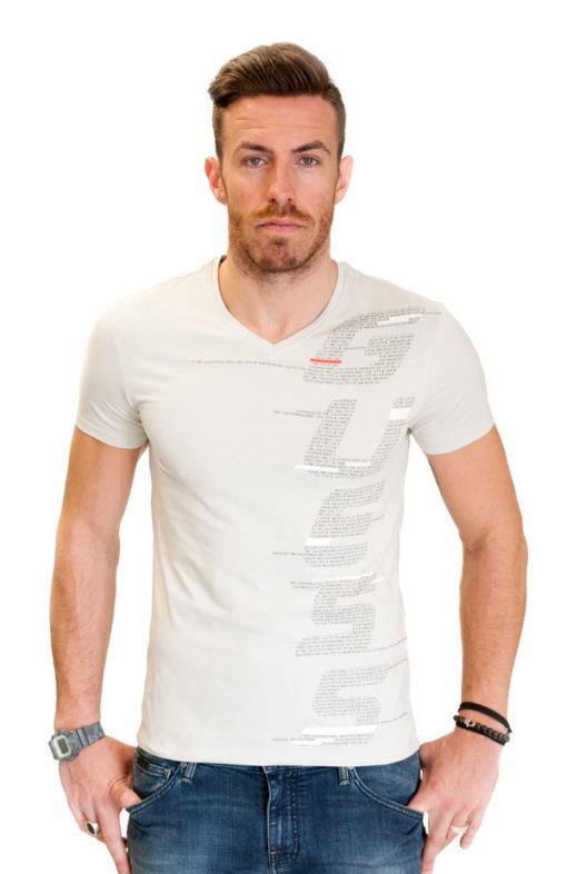 GUESS uomo maglietta mezza manica a v con scritte -1