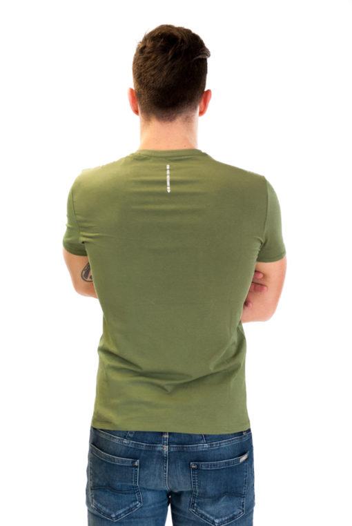 GUESS uomo maglietta mezza manica a v con scritte -3