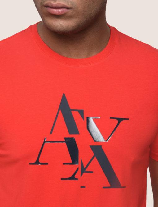 Armani Exchange maglietta mezza manica stretch da uomo con logo A|X -3