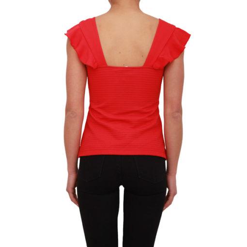 Armani Exchange top rosso in tessuto lavorato-1