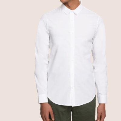 Camicia stretch da uomo Armani Exchange tinta unita
