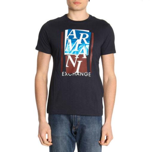ARMANI EXCHANGE t-shirt mezza manica da uomo con stampa lucida