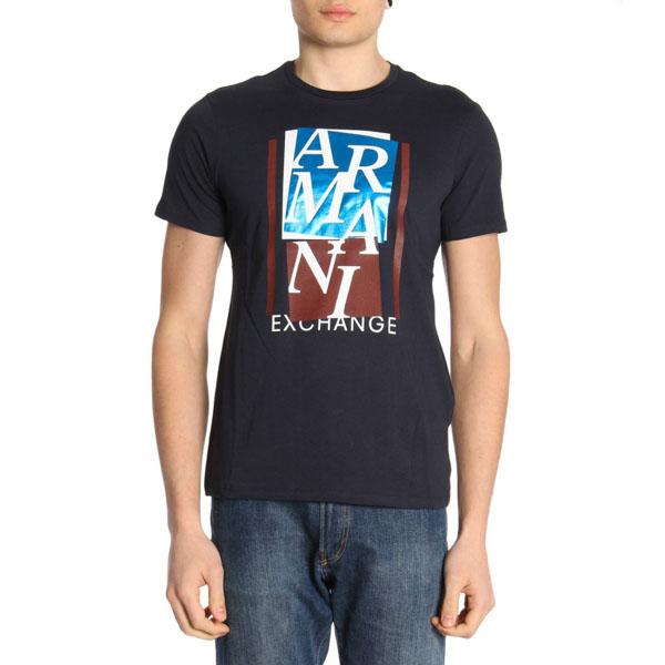 4c118021dca ARMANI EXCHANGE t-shirt mezza manica da uomo con stampa lucida