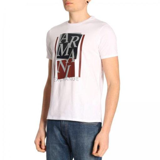 ARMANI EXCHANGE t-shirt mezza manica da uomo con stampa lucida -3