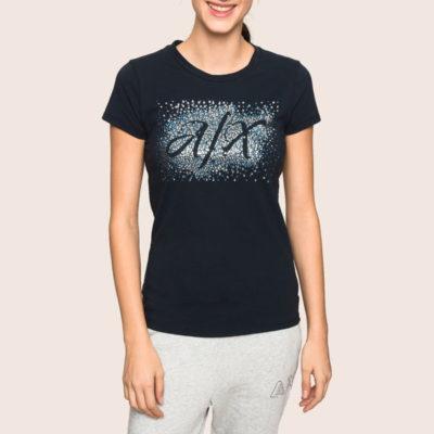 ARMANI EXCHANGE t-shirt stretch da donna in tinta unita