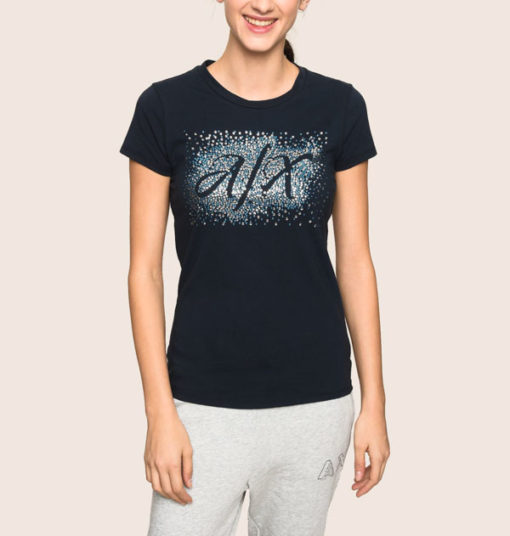 ARMANI EXCHANGE t-shirt stretch da donna in tinta unita