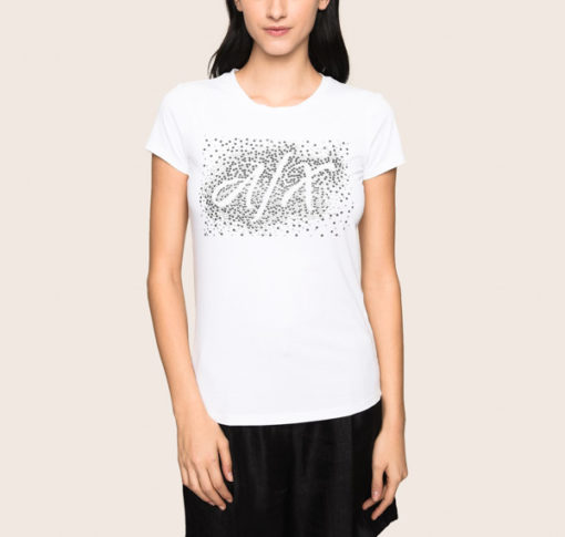ARMANI EXCHANGE t-shirt stretch da donna in tinta unita -1