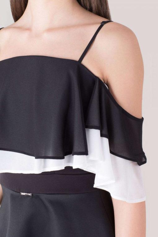 Artigli abito elegante da donna nero in raso -1