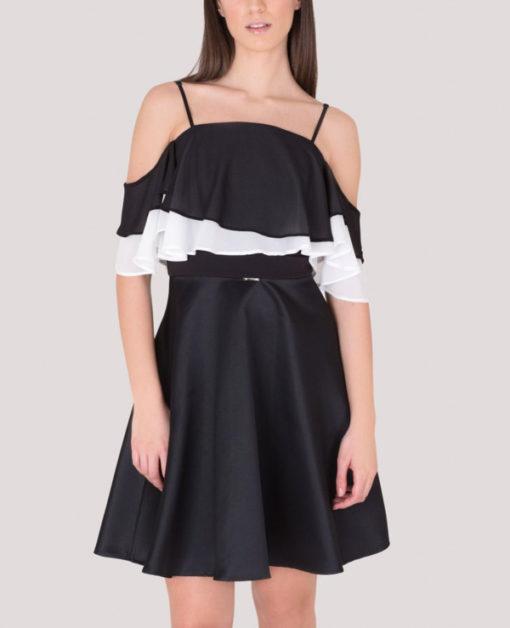 Artigli abito elegante da donna nero in raso