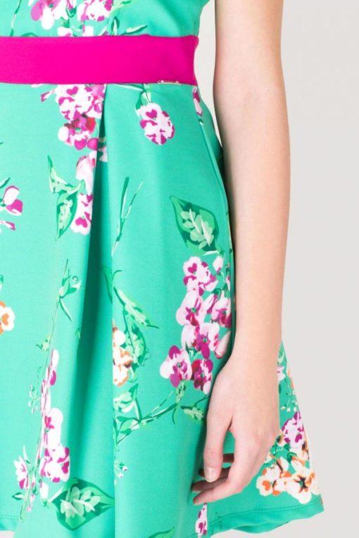 ARTIGLI vestito verde e fucsia in fantasia -1