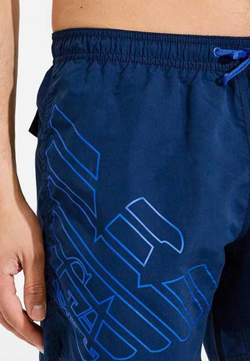 Pantaloncino boxer mare blu da uomo EA7 Emporio Armani -3