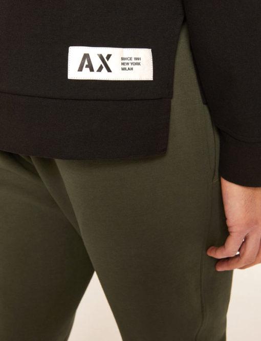 Armani Exchange felpa con cappuccio nera da uomo-3