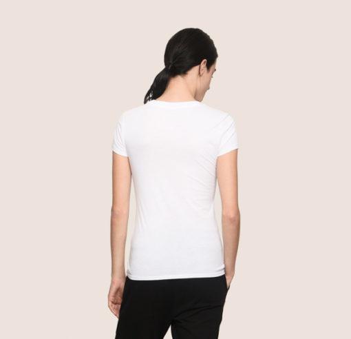 Maglietta mezza manica in cotone Armani Exchange da donna 8