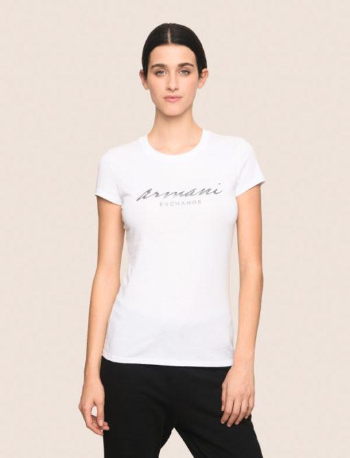 Maglietta mezza manica in cotone Armani Exchange da donna 7