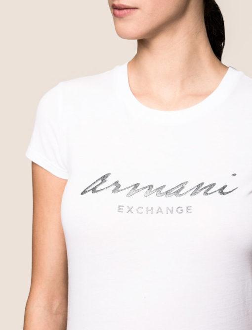 Maglietta mezza manica in cotone Armani Exchange da donna 6
