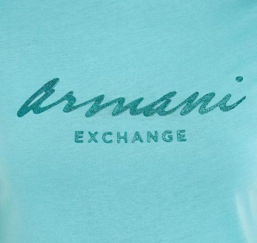 Maglietta mezza manica in cotone Armani Exchange da donna 2