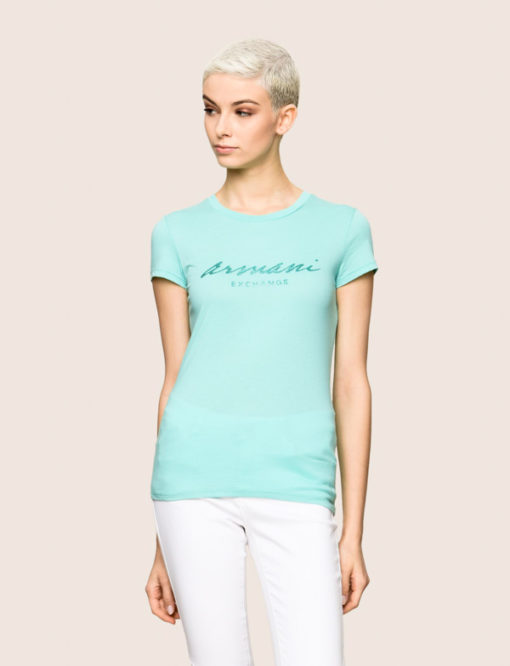Maglietta mezza manica in cotone Armani Exchange da donna 1