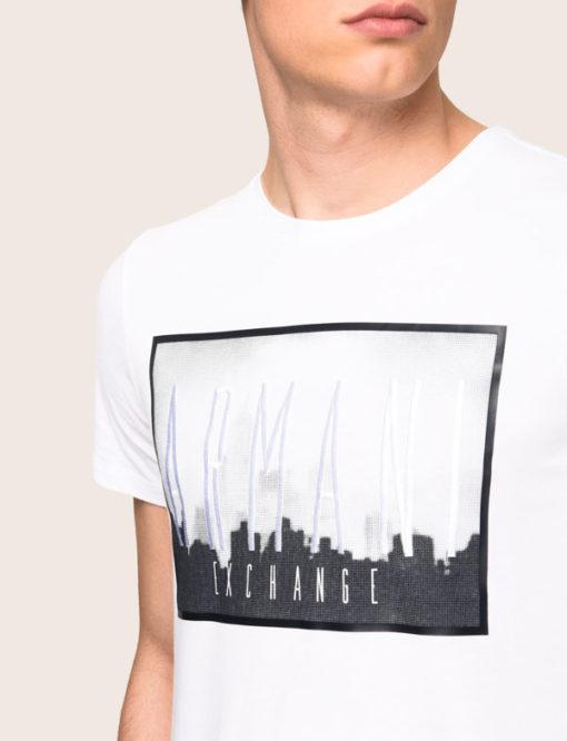 Armani Exchange maglietta mezza manica da uomo in cotone con logo 3