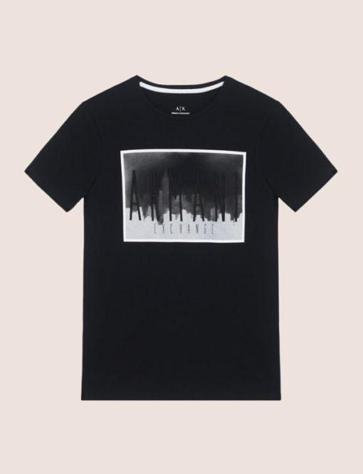 Armani Exchange maglietta mezza manica da uomo in cotone con logo 1