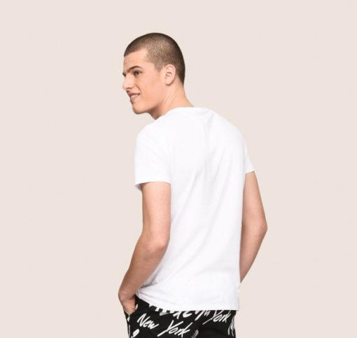 Armani Exchange maglietta mezza manica da uomo in cotone con logo 5