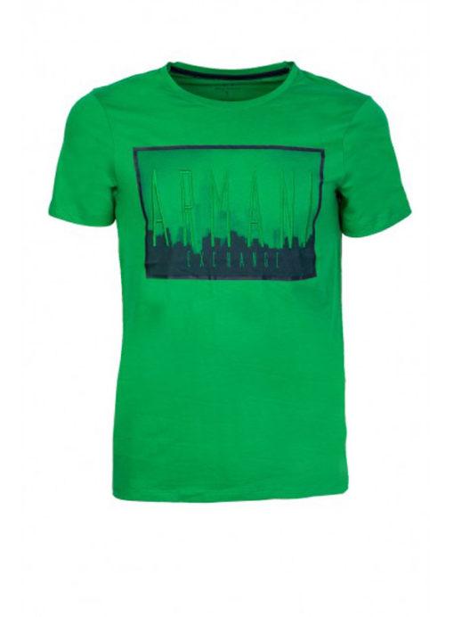 Armani Exchange maglietta mezza manica da uomo in cotone con logo 2
