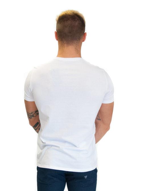 ARMANI EXCHANGE t-shirt uomo bianca con stampa aquila 2