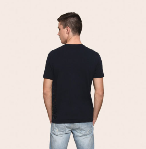 A|X t-shirt uomo scollo a v con logo laterale Armani Exchange -1